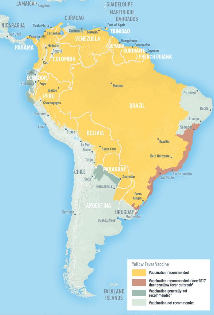 Опасные районы Южной Америки