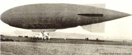 Первые дерижабли на водороде 1910-е года