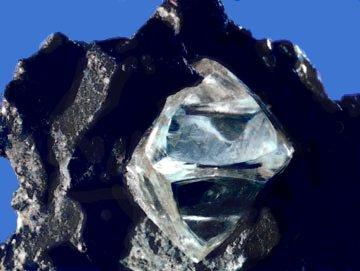Углерод в виде Алмаза в руде
