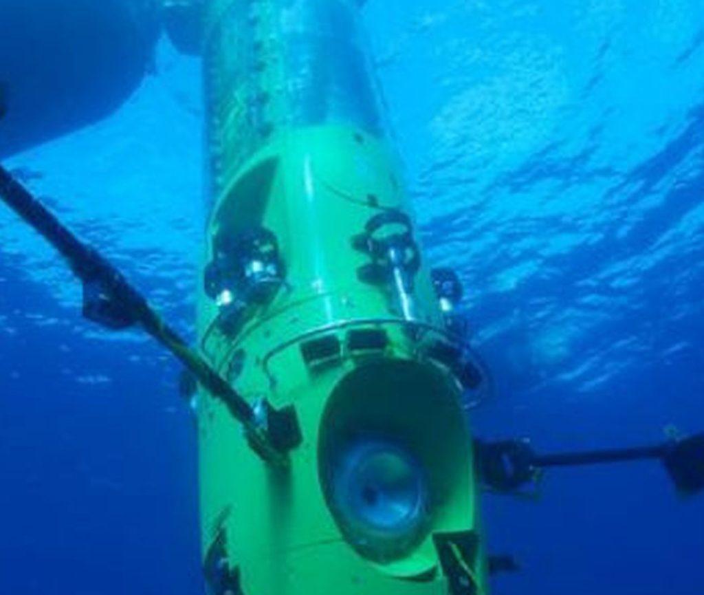 Капсула для глубоководного погружения заполненная смесью неона и кислорода