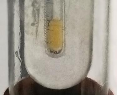 Газообразный фтор в колбе