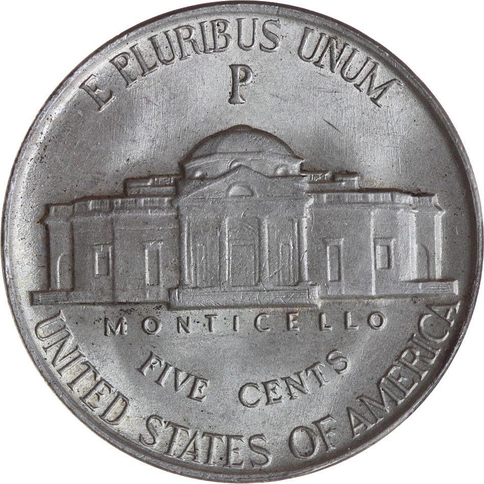 Монета в пять центов с содержанием марганца