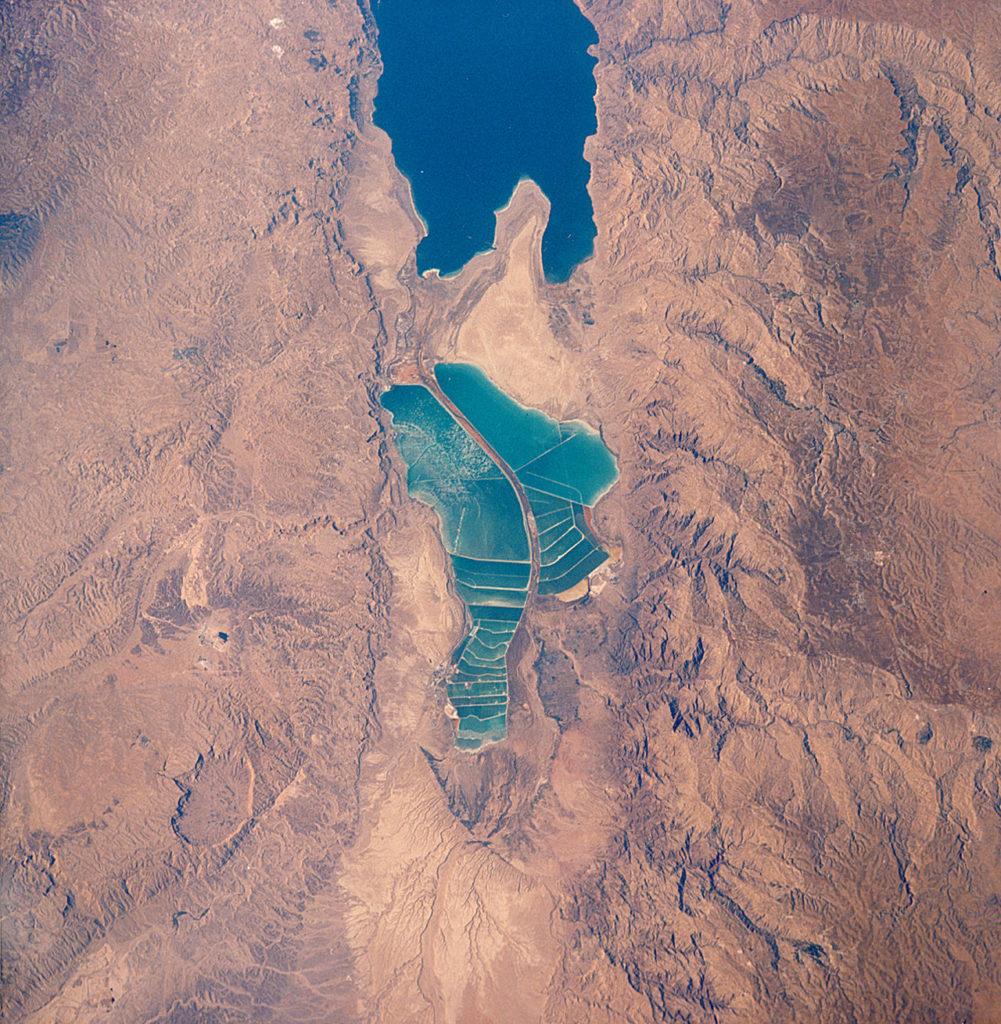 Мертвое море вид со спутника